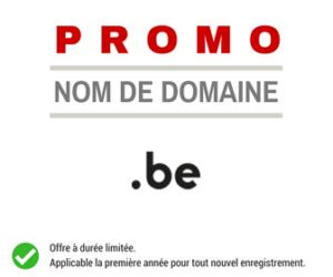 Promotion sur le nom de domaine .BE