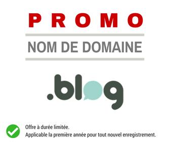 Promotion sur le nom de domaine .BLOG