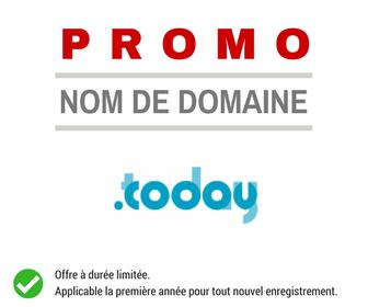 Promotion sur le nom de domaine .TODAY