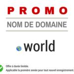 Promotion sur le nom de domaine .WORLD