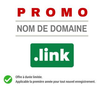 Promotion sur l'enregistrement de nom de domaine LINK