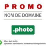 Promotion sur l'enregistrement de nom de domaine PHOTO