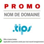 Promotion sur l'enregistrement de nom de domaine TIPS